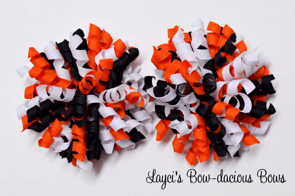 small halloween bows, halloween korker hair bows