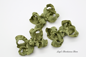 olive green hair bow, green baby bows, army green