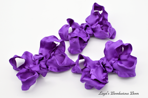 purple baby bows, 3 inch purple bows