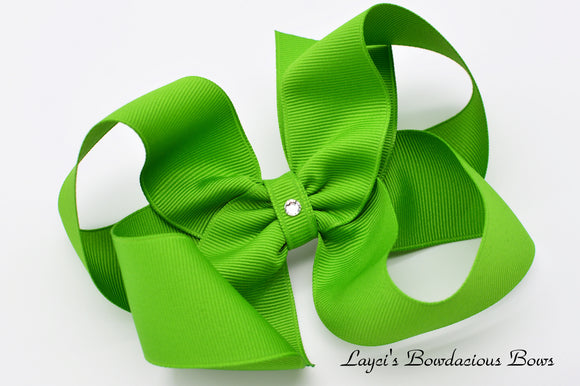 Extra Large Apple Green Boutique Hair Bow - Ready to Ship - Rts2