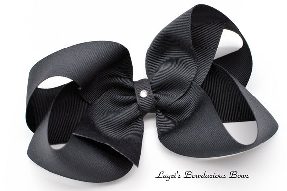 Extra Large Black Boutique Hair Bow - Ready to Ship - Rts5