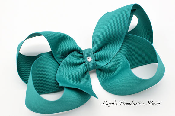 Extra Large Jade Boutique Hair Bow - Ready to Ship - Rts4