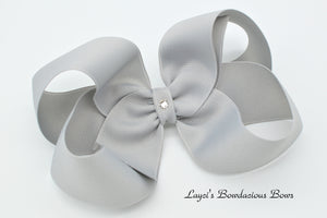 Extra Large Millennium Silver Boutique Hair Bow - Ready to Ship - Rts6