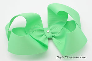 Extra Large Mint Boutique Hair Bow - Ready to Ship - Rts4