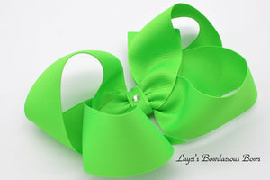 Extra Large Neon Green Boutique Hair Bow - Ready to Ship  - Rts2