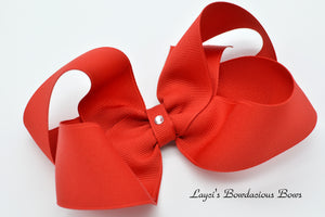 Extra Large Red Boutique Hair Bow - Ready to Ship - Rts5