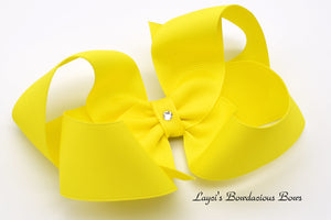 Extra Large Sunshine Yellow Boutique Hair Bow - Ready to Ship  - Rts2