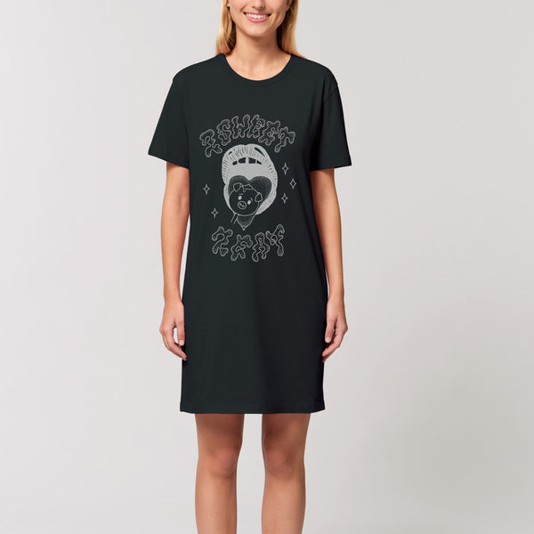 2 Sweet 2 Eat - Black T-Shirt Dress