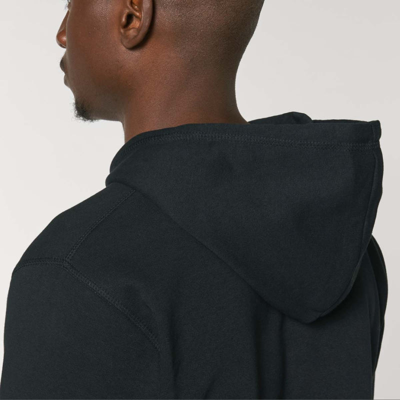 The Classics Hoodie - Embroidered Logo - Black - ORGANIC X RECYCLED