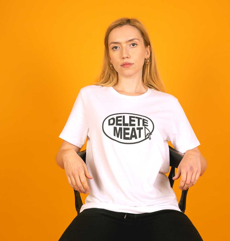 Delete Meat - White T-Shirt