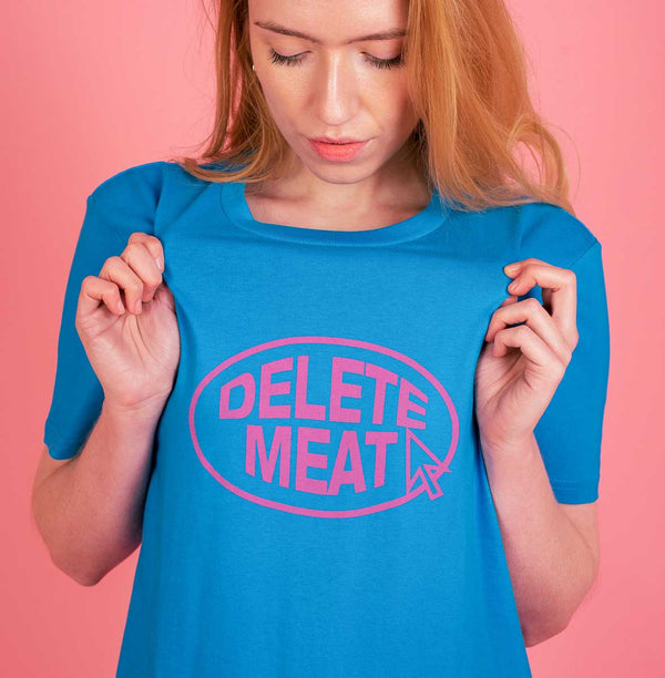 Delete Meat - Royal Blue T-Shirt