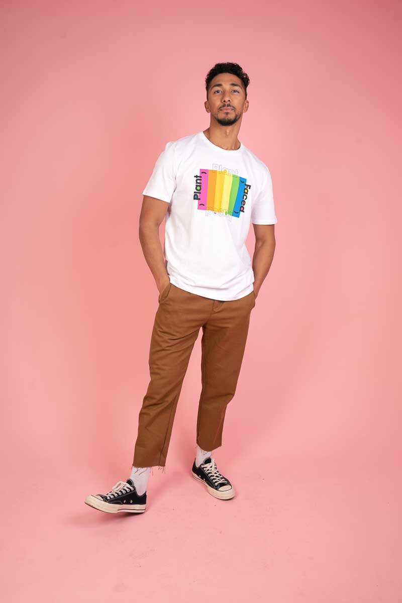 Plant Based Rainbow Tee - White