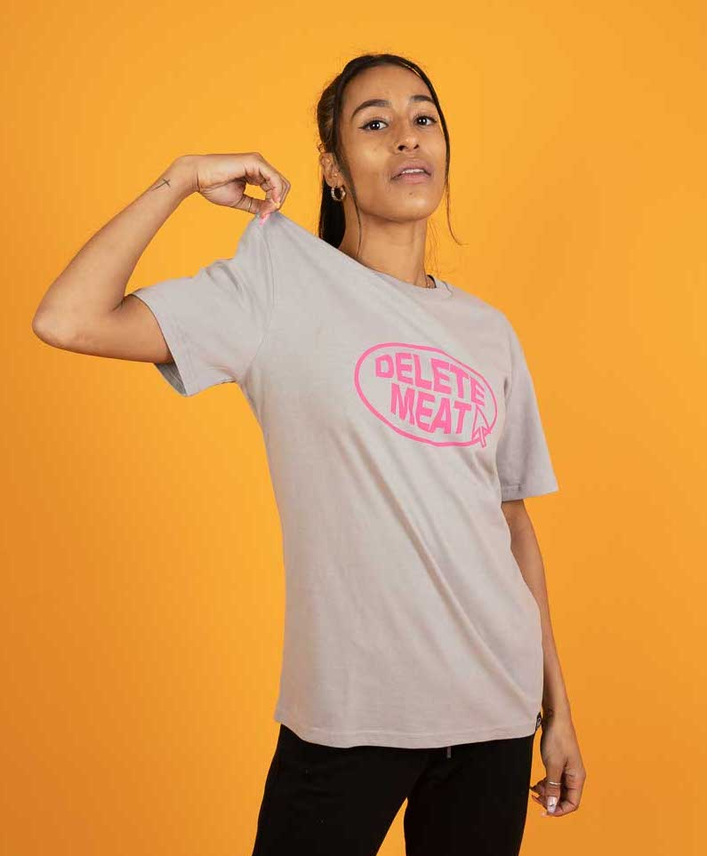 Delete Meat - Opal Grey T-Shirt