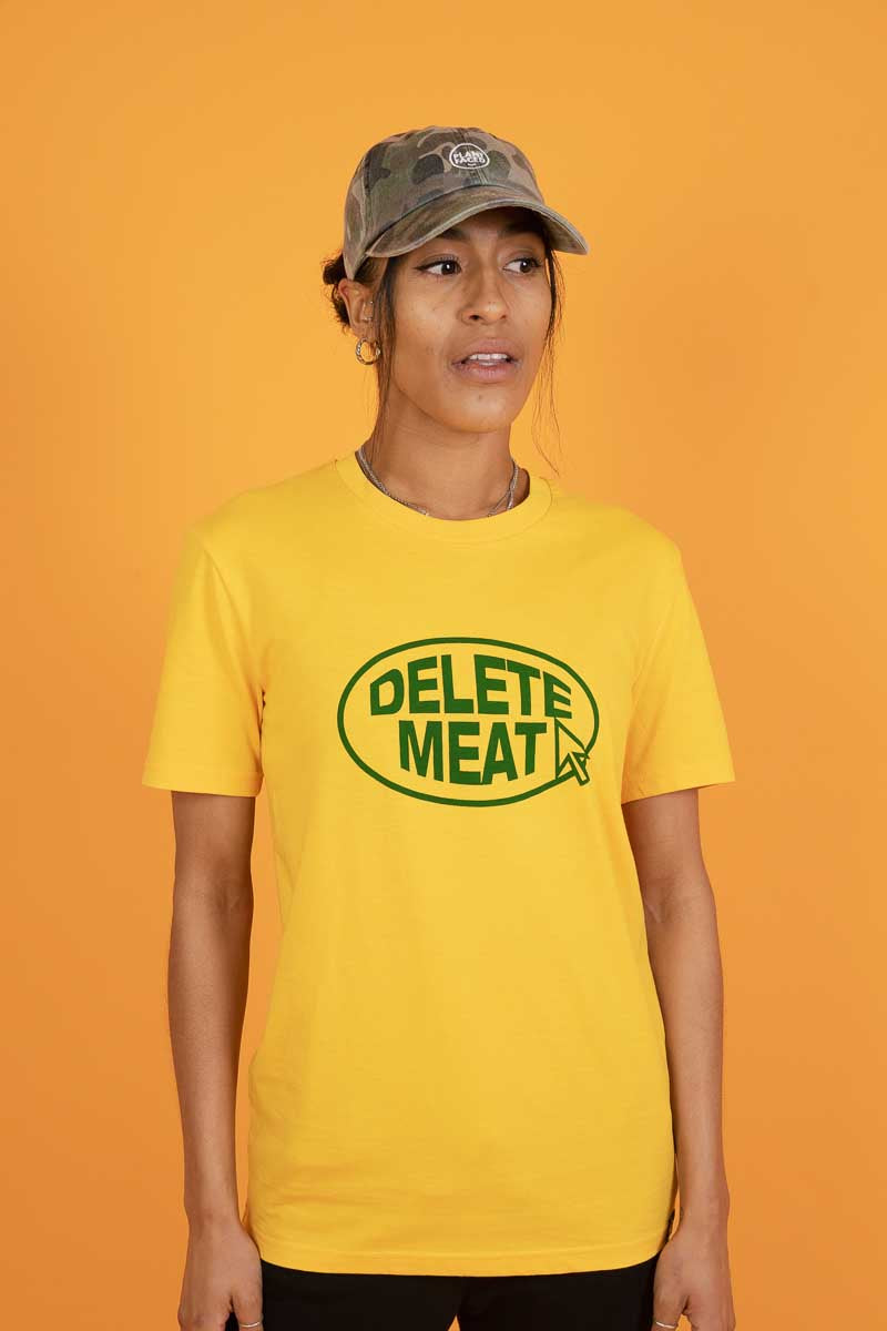 Delete Meat - Spectra Yellow T-Shirt