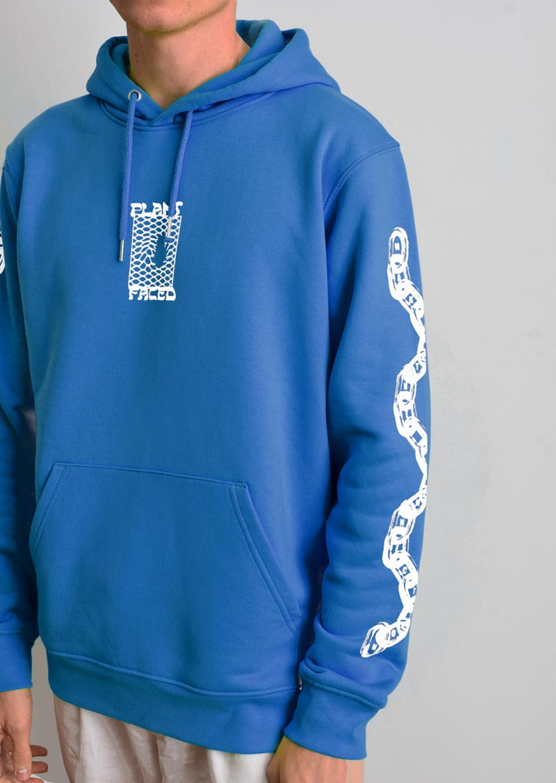 Make The Connection Hoodie - Blue - ORGANIC X RECYCLED