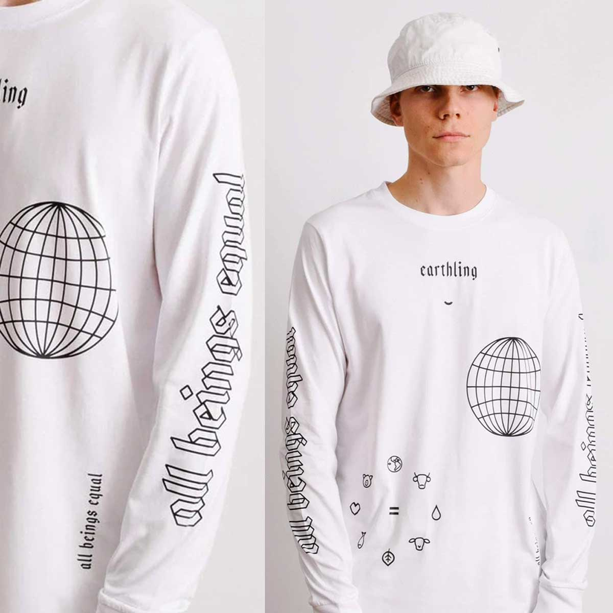 Earthling Long Sleeve - White