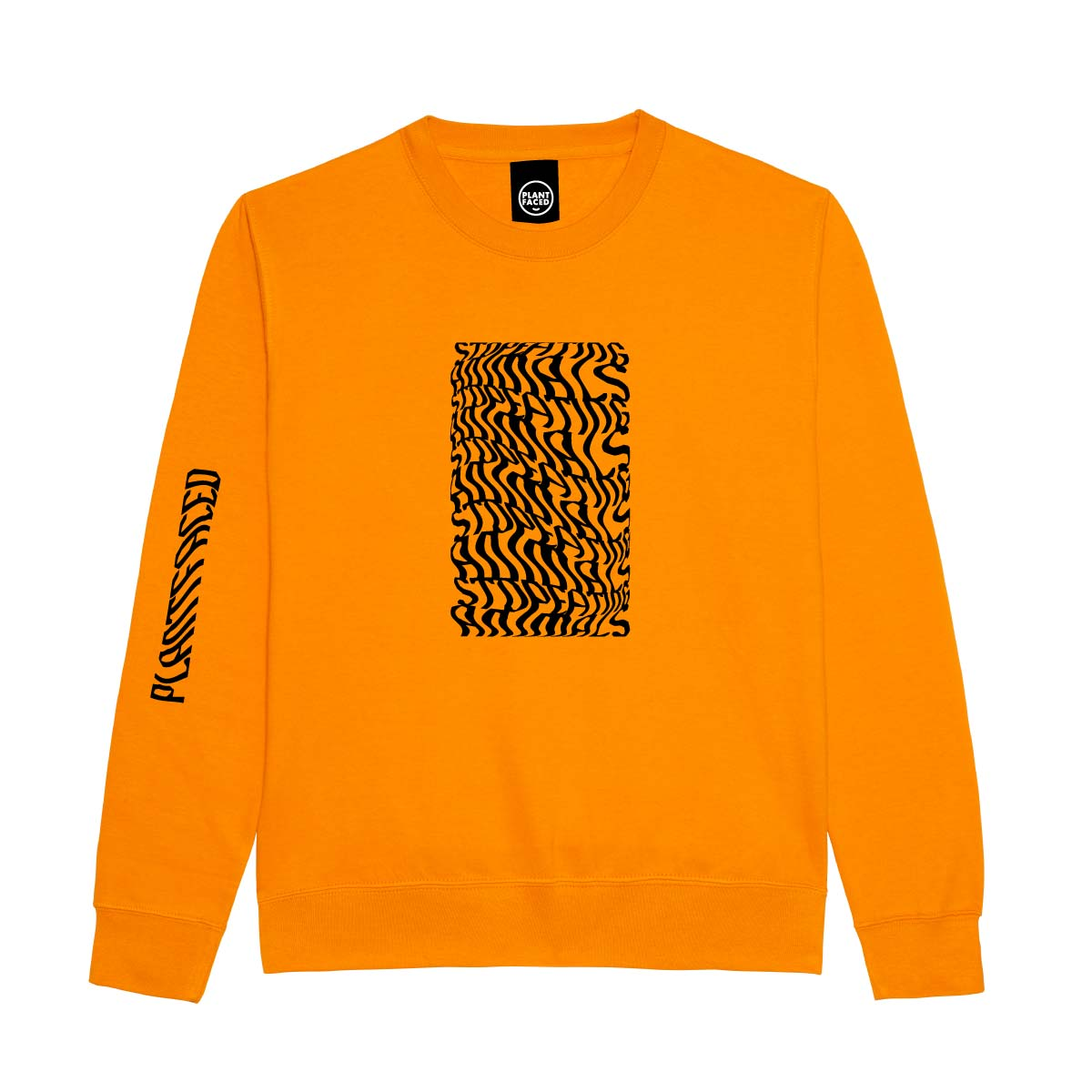 Illusions Sweater - Stop Eating Animals - Alarm Orange