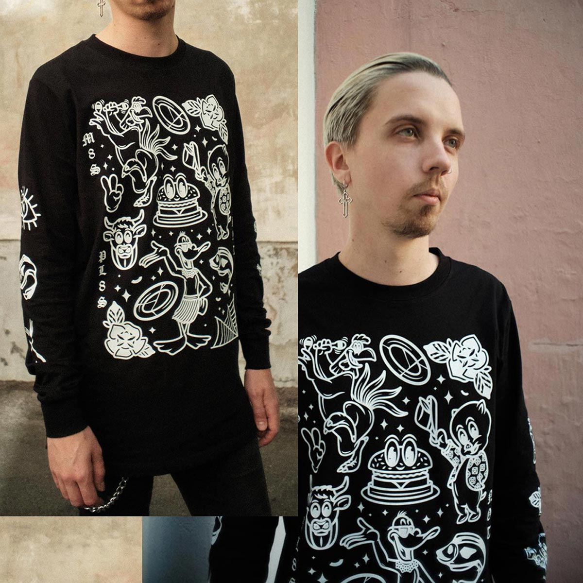 M8S NOT PL8S Long Sleeve - Black
