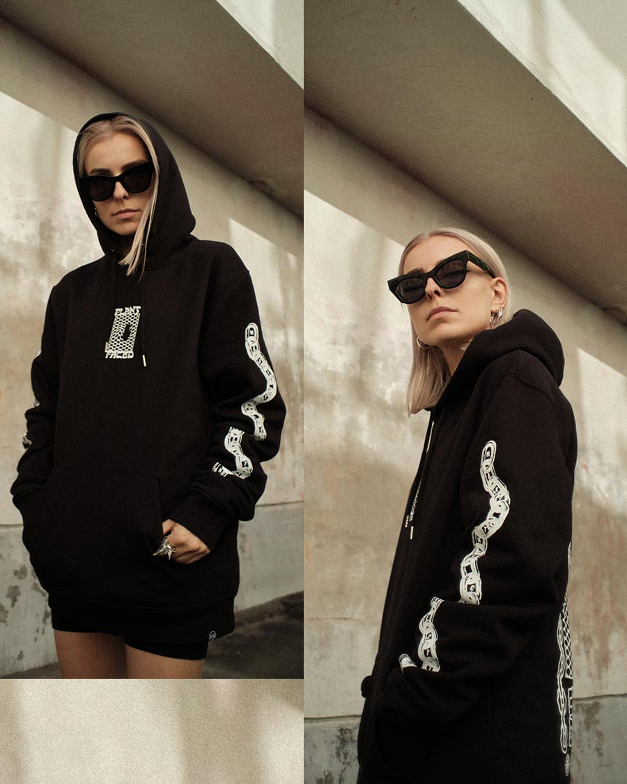 Make The Connection Hoodie - Black - ORGANIC X RECYCLED