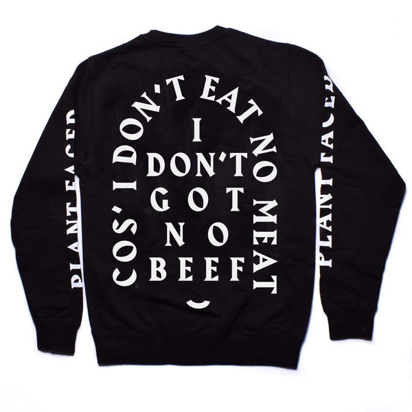 No Beef Sweater - Black x White