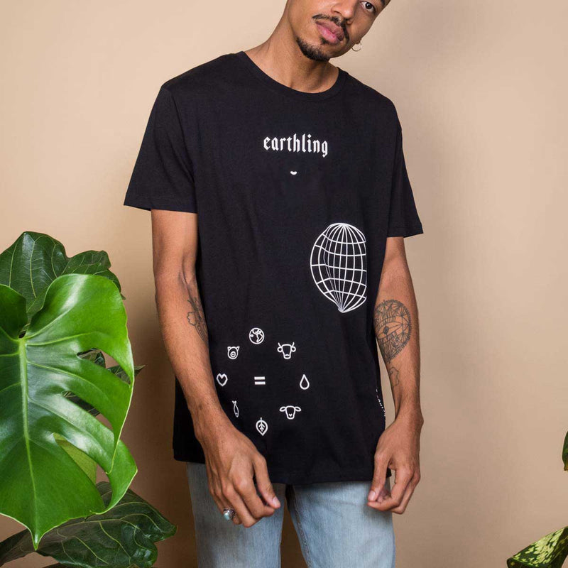 ERTHLNG Tee - Black - 100% Organic Cotton