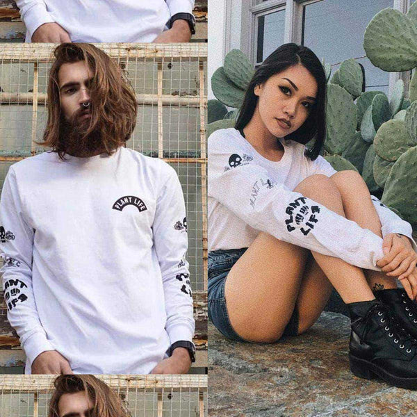 Plant Life Long Sleeve - White