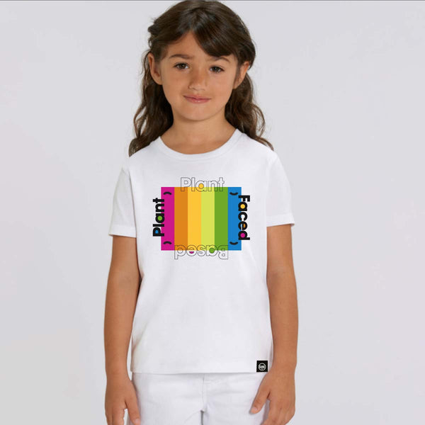 Plant Based Rainbow - White - Kids Tee