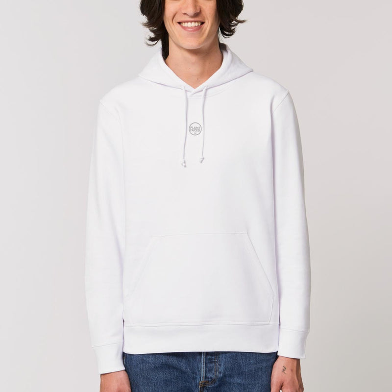 The Classics Hoodie - Embroidered Logo - Frost White - ORGANIC X RECYCLED