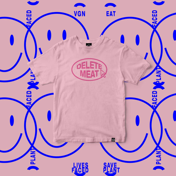 Delete Meat - Candy Pink T-Shirt