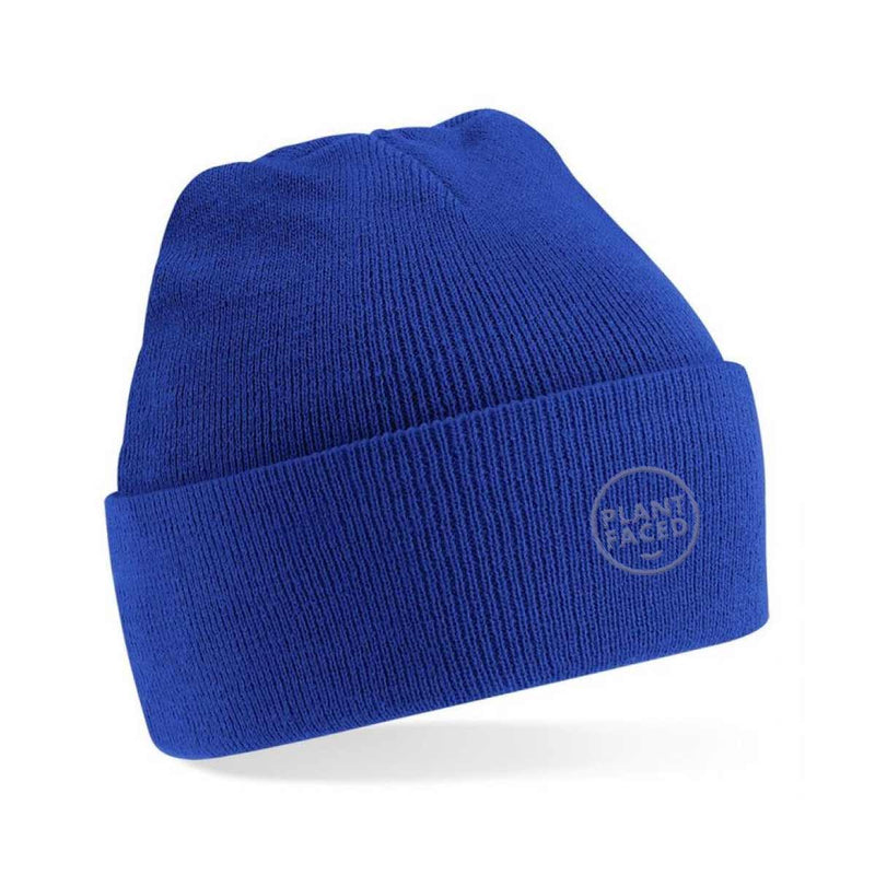 Plant Faced Beanie - Royal Blue