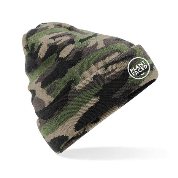 Plant Faced Beanie - True Camo