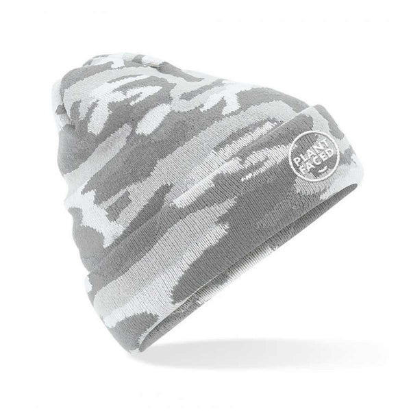 Plant Faced Beanie - Light Camo