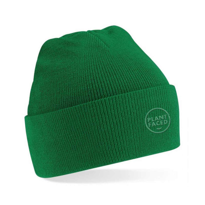 Plant Faced Beanie - Gourmet Green