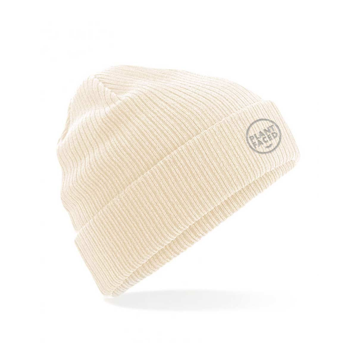 Plant Faced Organic Beanie - Fisherman Oat