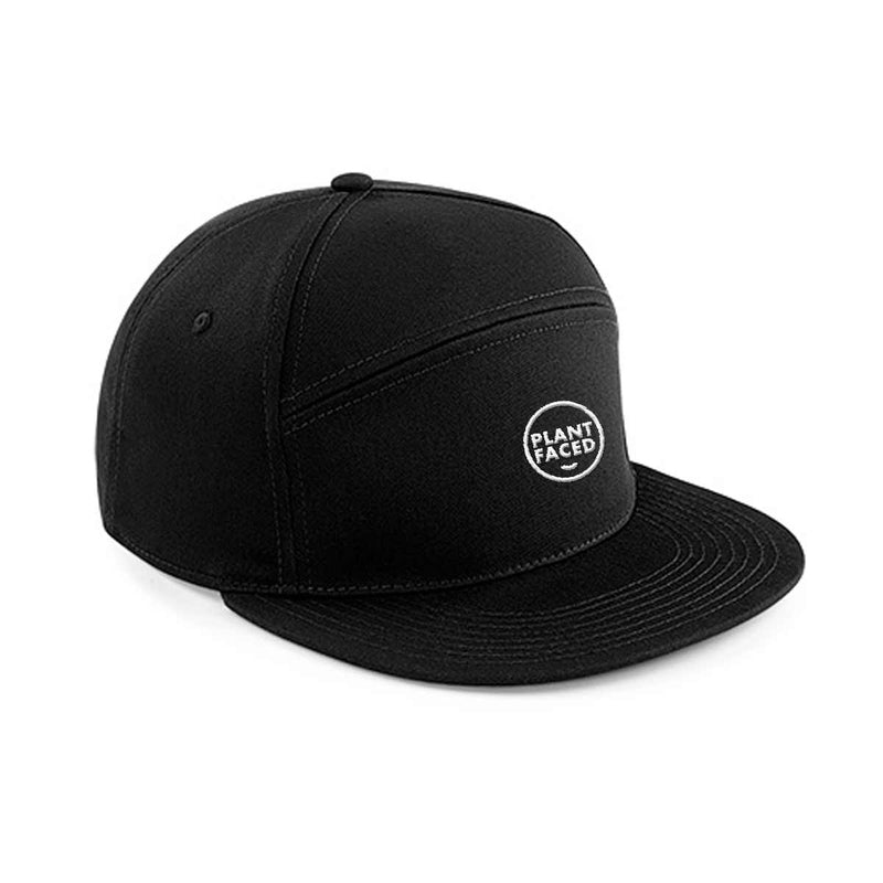 Plant Faced Snapback Hat - Black