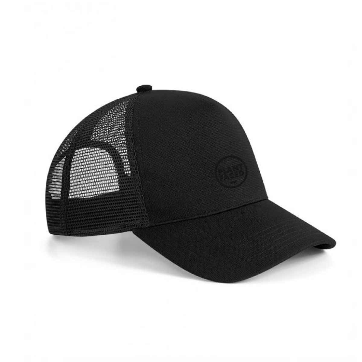 Plant Faced Trucker Cap - Black Out - ORGANIC