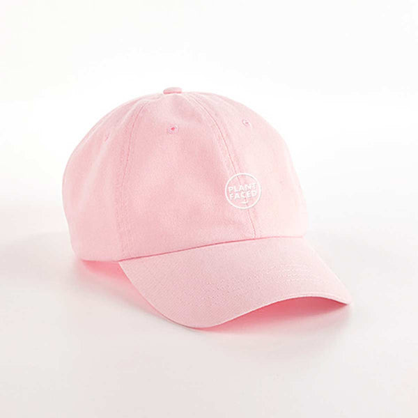 Plant Faced Dad Hat - Pastel Pink