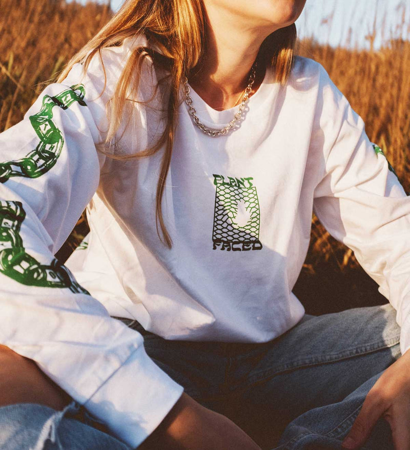 Make The Connection Long Sleeve - White