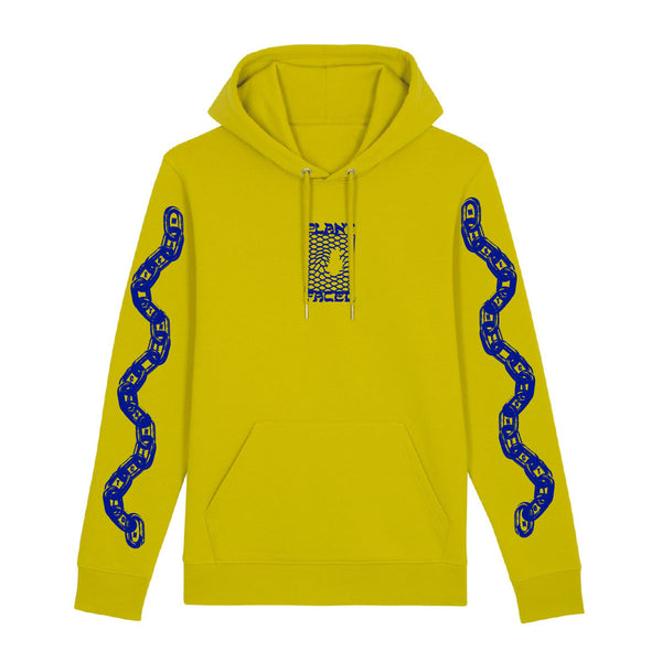 Make The Connection Hoodie - Lime Yellow - ORGANIC X RECYCLED