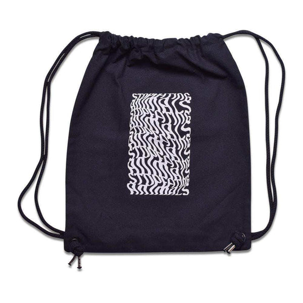 PLANT FACED CLOTHING: Bags - Illusions Gym Bag - Stop Eating Animals - Black, Vegan Clothing