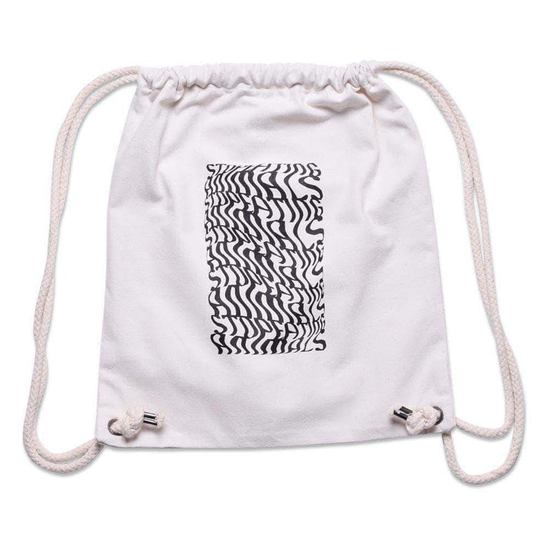 PLANT FACED CLOTHING: Bags - Illusions Gym Bag - Stop Eating Animals - Natural White, Vegan Clothing