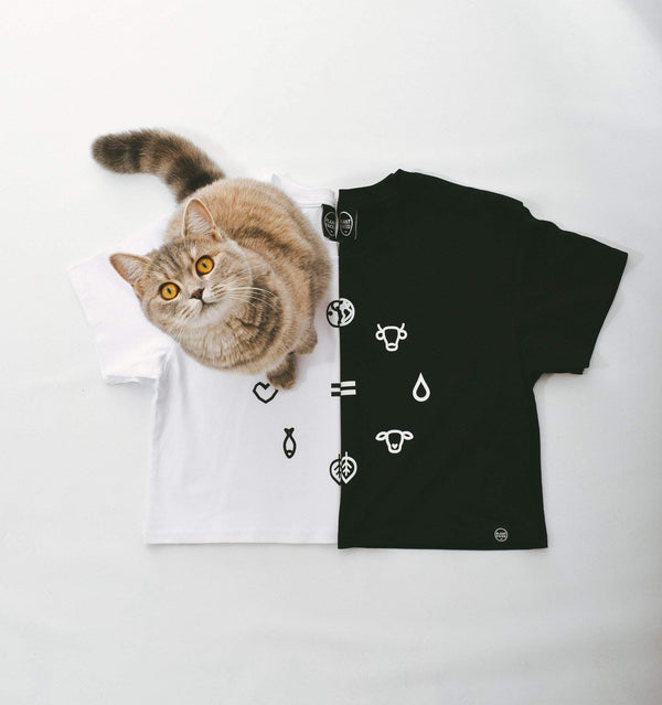 PLANT FACED CLOTHING: Crop Tops - Equal Beings - Black Crop Tee, Vegan Clothing