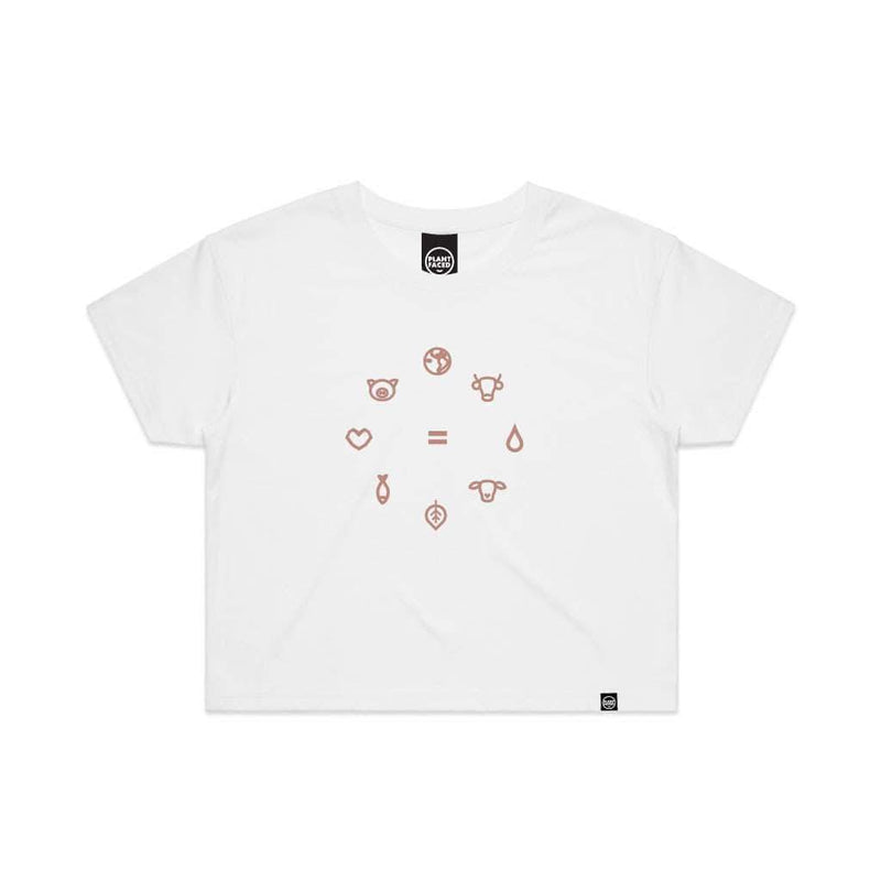 Equal Beings - Salmon Pink Crop Tee