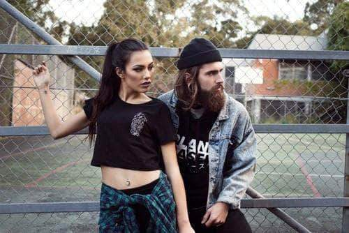 PLANT FACED CLOTHING: Crop Tops - Soulless - Black Crop Top, Vegan Clothing