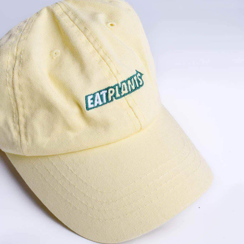 PLANT FACED CLOTHING: Hats - Eat Plants Dad Hat - Lemon, Vegan Clothing
