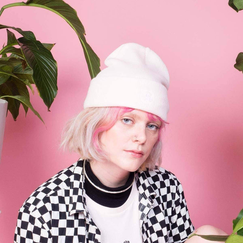 PLANT FACED CLOTHING: Hats - Plant Faced Beanie - Candy Pink, Vegan Clothing