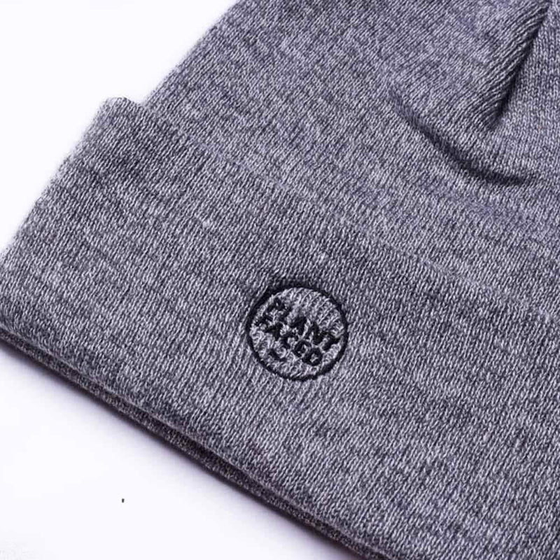 PLANT FACED CLOTHING: Hats - Plant Faced Beanie - Marle Grey, Vegan Clothing