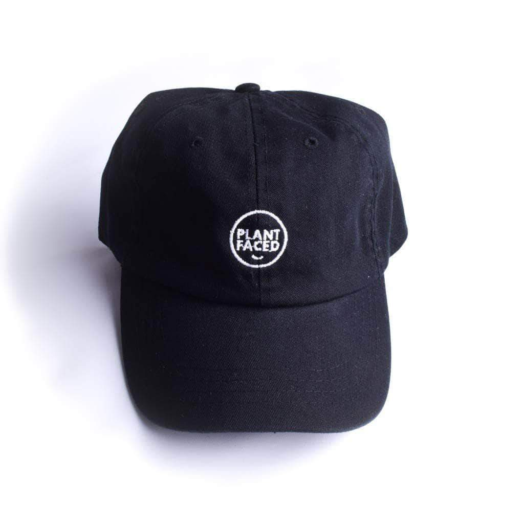 PLANT FACED CLOTHING: Hats - Plant Faced Dad Hat - Black & White, Vegan Clothing