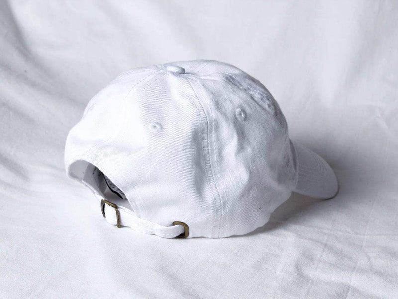 PLANT FACED CLOTHING: Hats - Plant Faced Dad Hat - White Out, Vegan Clothing