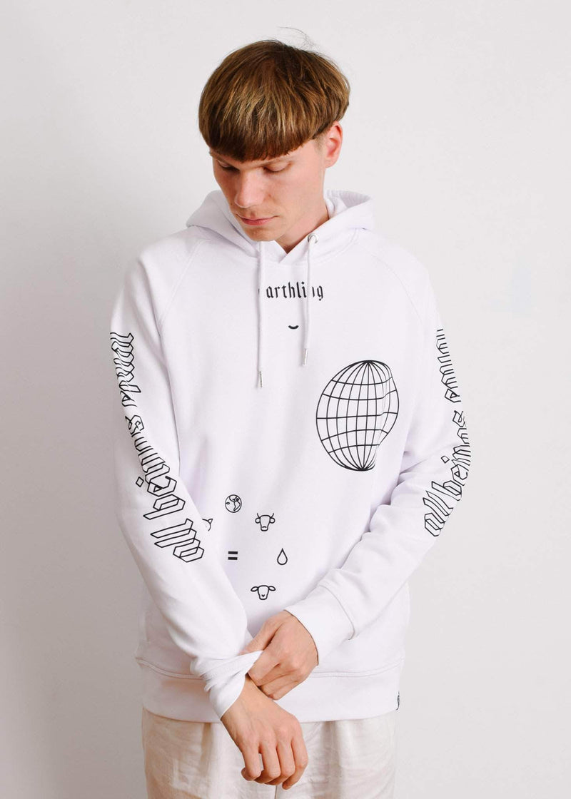 PLANT FACED CLOTHING: Hoodies - ERTHLNG - Hoodie - Ice White - ORGANIC x RECYCLED, Vegan Clothing